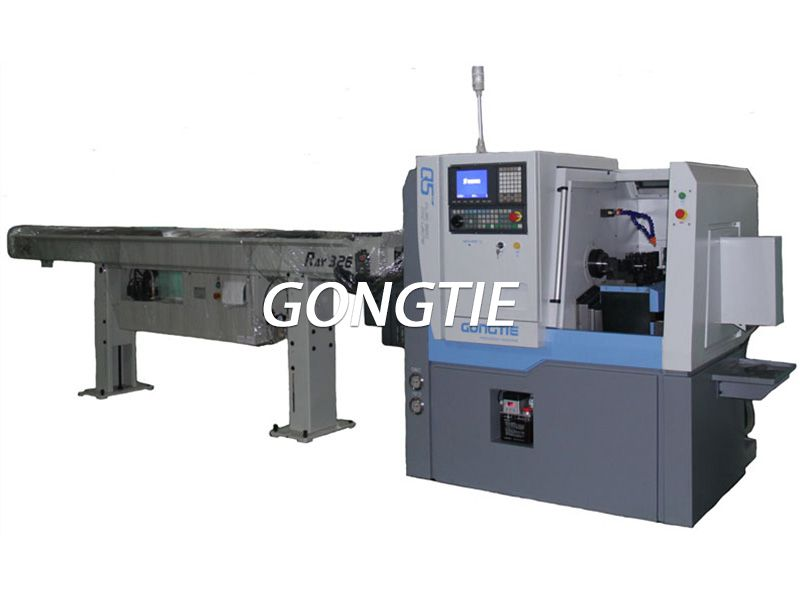 Precise CNC  Lathe with Bar Feeder